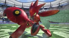 Pokken Tournament Official Scizor Trailer (Japanese) The bug/steel Pokemon is coming to the arcade version of the fighting game. October 14 2016 at 02:49PM  https://www.youtube.com/user/ScottDogGaming