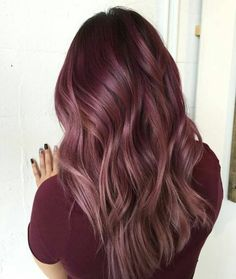 30 Maroon Hair Color Ideas For Sultry Reddish Brown Styles - Maroon Hair - Hair Maroon Hair Colors, Hair Dye Colors, Ombre Hair Color, Hair Color Balayage, Burgundy Color, Dusty Rose Hair Color, Rose Gold Balayage Brunettes, Pastel Ombre, Cheap Hair Extensions