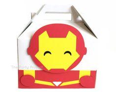 Free Shipping 12 Superheroes favor boxes por thepartyprojectshop