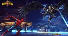 Stark-Enhanced Spider-Man comes to MARVEL Contest of Champions via @therockfather Contest Of Champions, Marvel Cards, Green Goblin, Comics Online, Amazing Spider, Marvel Dc Comics, Punisher, Marvel Characters, Marvel Universe