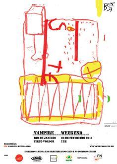 Vampire Weekend (February de 2011)  Art by Antonio Bokel www.antoniobokel.com.br