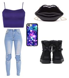 """""""Untitled #57"""" by quezg1 ❤ liked on Polyvore featuring Casetify, WearAll and UGG"""
