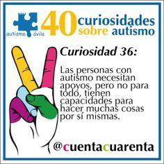 Las personas con autismo necesitan apoyos, pero no para todo, tienen capacidades para hacer muchas cosas por sí mismas.