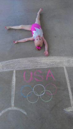 Young gymnast on a chalk beam - such a fun idea! Gymnastics Quotes, Gymnastics Pictures, Gymnastics Girls, Gymnastics Stuff, Chalk Photos, Artsy Photos, Preschool Gymnastics, Young Gymnast, Gymnastics Photography