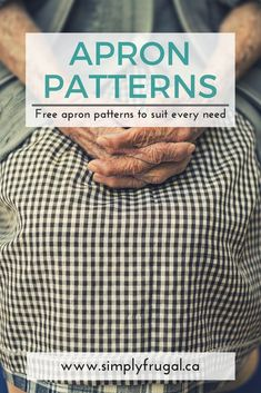 Sewing For Beginners Projects Free apron patterns, free sewing patterns - This list of free and easy apron patterns is fantastic! Sewing Patterns Free, Free Sewing, Free Pattern, Sewing Men, Easy Apron Pattern, Apron Patterns, Clothes Patterns, Dress Patterns, Vintage Apron Pattern