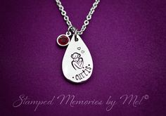 A Mother's Love  Mommy Necklace  Hand Stamped Jewelry by StampedMemoriesbyMel