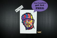 Dj MUGGS by Cypress Hill Rap Posters. Perfect gift for hip hop
