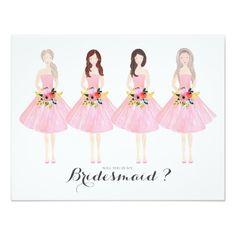 Will you be my bridesmaid custom card