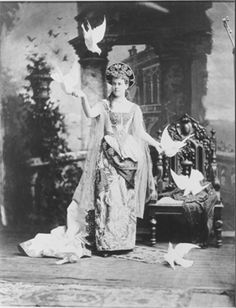 Mrs William K. (Alva) Vanderbilt in the costume of a 'Venetian Renaissance Lady' at the Vanderbilt Ball at their New York City residence, 660 Fifth Avenue, on March 26, 1883.
