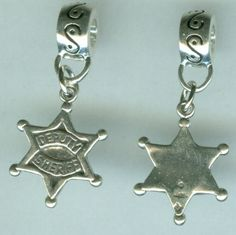 I need for my charmed memories bracelet.......  Sterling DEPUTY SHERIFF'S BADGE Bead Charm for by ShymaliLlamas