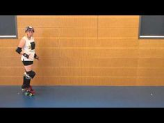 Roller Derby Fresh Meat Lessons - T-Stops - Lesson 6- PipSquish - YouTube
