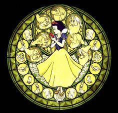 Kingdom Hearts | Stained glass Snow White.