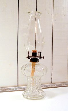 Vintage Oil Lamp Victorian Style Oil Lamp Clear at FrogLevelFarm