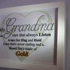 Grandma heart of gold, Sparkle Word Art Pictures, Quotes, Sayings, Home Decor, Gifts