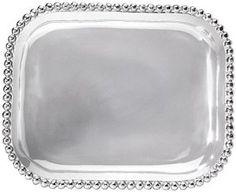Amazon.com: Mariposa Pearled Rectangular Platter: Home & Kitchen