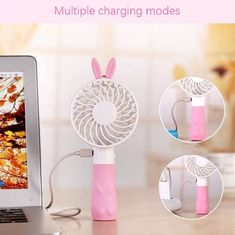 Vacuum Cleaner Parts Creative Personal Travel Fan Mini Portable Handheld Fan Rechargeable Battery Operated Pocket Fan Lightweight Small Dual Head Fan Skilful Manufacture