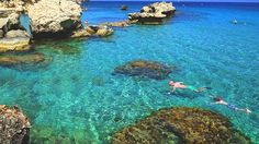 More than perfect: Holiday-makers snorkel at Konnos beach in Cyprus.