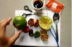 Rosas hechas con cascara de naranja