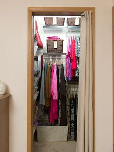 After closet transformation- removing a single rod ensured this closet could make better use of space.