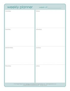weekly planner... could be used for homework assignments??