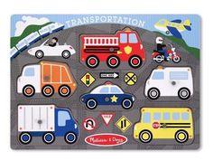 Melissa & Doug - Transportation Peg Puzzle