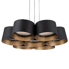 The Modern Forms Marimba LED Pendant clusters seven steel drum shades into one fascinating fixture. Each shade Led Ceiling Light Fixtures, Modern Led Ceiling Lights, Led Pendant Lights, Led Chandelier, Pendant Light Fixtures, Lantern Pendant, Modern Lighting, Chandeliers, Pendant Lamps