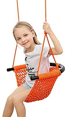 Uquer Swing Seat For Kids Heavy Duty Rope Play Secure Children Swing Set Perfect For Indoor Outdoor Swing Sets For Kids Kids Swing Hammock Swing