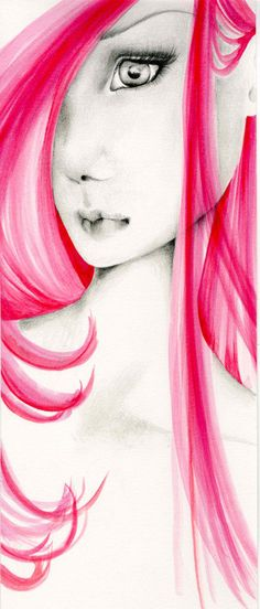 Watercolor Fashion Illustration of a Girl