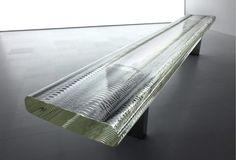 Glass bench by Tokujin Yoshioka