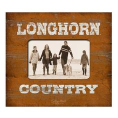 Longhorn Country Picture Frame