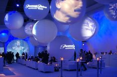 Awesome example of a gobo monogram #corporateevent #eventideas Rockwell Catering and Events