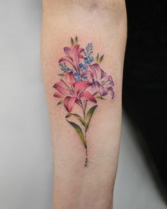 Floral forearm piece by Georgia Grey
