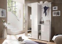 Garderobe Weiss Hochglanz/ Weiss Woody 63-00085 Mdf Modern