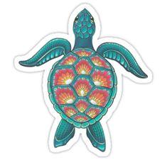 Awesome 'Mandala+Turtle' design on TeePublic! Mandala Tattoo Design, Mandala Turtle, Tattoo Motive, Tattoo Hand, Turtle Painting, Full Sleeve Tattoos, Aesthetic Stickers, Animal Fashion, Art Prints