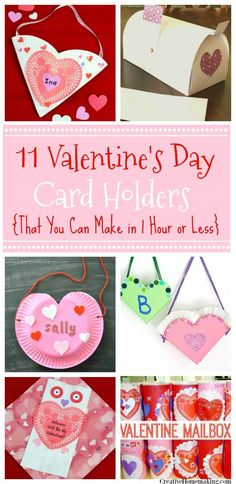 Need to make a Valentine holder at the last minute for a child's class Valentines Day party? All of these Valentine holders can be made in less than an hour!