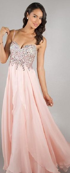 Elegant Sleeveless Floor Natural Sweetheart Chiffon Evening Dresses In Stock klkdresses13377kjokg #longpromdress #fashiondress