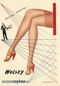 www.MadMenArt.com | The Vintage Ad Art Collection Wolsey Nylons ©