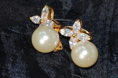 Vintage Pearl and Diamond Look Pierced by Purpose4Everything, $12.75