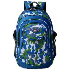 Deloom Kids Cool Book Bags Camo Backpack for School Boys * Visit the image link more details. (This is an Amazon Affiliate link and I receive a commission for the sales)
