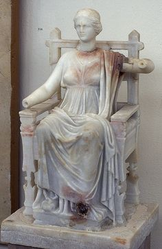 Marble seated Cybele, Etruscan mysteries at Delos, Semothrace and Elesius