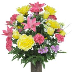 Pink Lily and Yellow Rose Mix (LG1203)