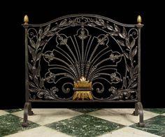 Antique Arts & Crafts Firescreen