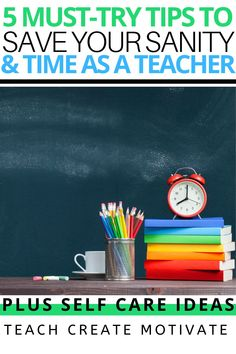 This year has been especially trying for teachers, so now more than ever it's important to do things that will save you time, energy, and help you keep your sanity as a busy teacher! Some of the ideas I'm sharing include implementing classroom management strategies that will ultimately save you work, meal planning, exercising, and more! Self care is NOT optional for teachers!