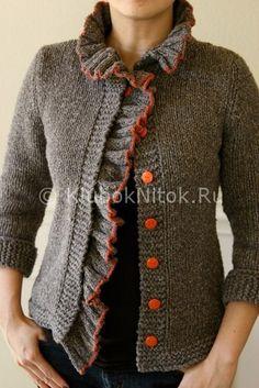 Жакет «Бодлер»   Вязание для женщин   Вязание спицами и крючком. Схемы вязания.