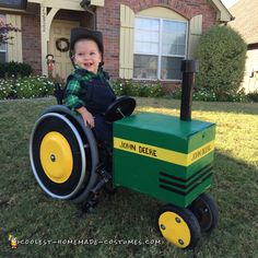 Wheelchair John Deere Tractor and Farmer Costume... Coolest Homemade Costumes