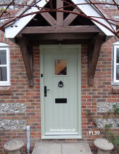 Oak Cottage Doors Framed Ledged Oak or Painted Hardwood Cottage Front Doors, Front Door Porch, Front Doors With Windows, Cottage Door, House Front Door, Cottage Exterior, Backyard Canopy, Garden Canopy, Canopy Outdoor