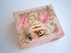 Wooden tea box for Mother's Day! This beautiful DIY gift for mum would be a great craft project. Get one of our plain wooden tea boxes, decoupage paper and paint. Get your Mother's Day inspiration and supplies from www.craftmill.co.uk