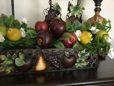 Home Interior Celebrating Limited Time Sonoma Fruit Swag for Pictures Home Interior Catalog, Tuscan Style, Celebrity Houses, Table Centerpieces, Home Kitchens, Kitchen Decor, Fruit, Celebrities, Organizing