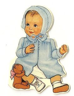 vintage baby card ~♥Shabby baby Spaces♥~