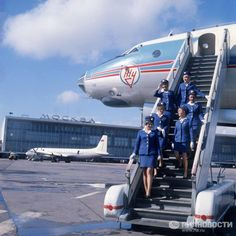 Moscow Domodedovo airport in 1974. The airport turned 50 on April7.
